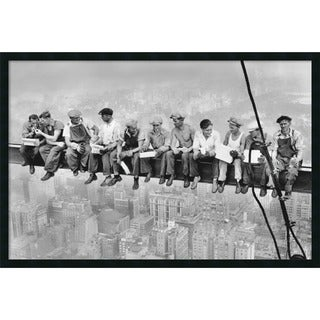 Charles C. Ebbets 'Lunch on a Skyscraper, 1932' Framed Art Print with Gel Coated Finish