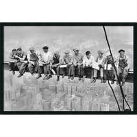 Framed Art Print Lunch on a Skyscraper, 1932 by Charles C. Ebbets 38 x 26-inch