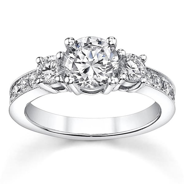 18k White Gold 1 1/5ct TDW Diamond Engagement Ring