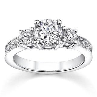 18k White Gold 1 1/5ct TDW Diamond Engagement Ring