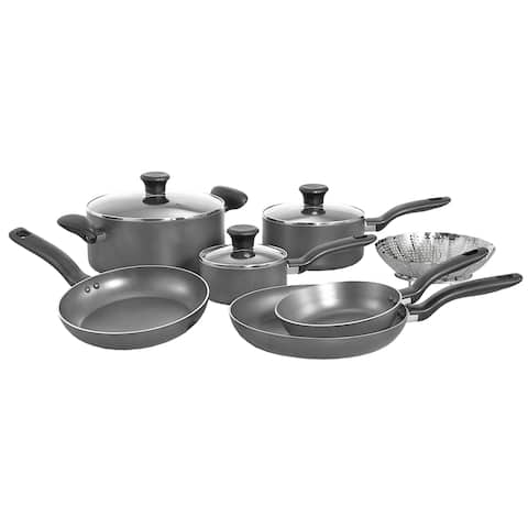 Grey 10-piece Cookware Set