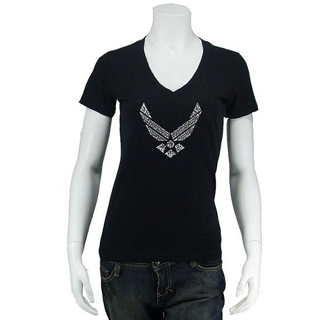 Los Angeles Pop Art Women's Air Force V-neck Shirt