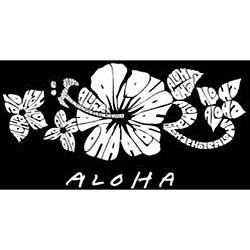 Los Angeles Pop Art Women's Aloha V-neck Top - Thumbnail 1