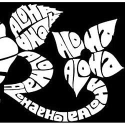 Los Angeles Pop Art Women's Aloha V-neck Top - Thumbnail 2