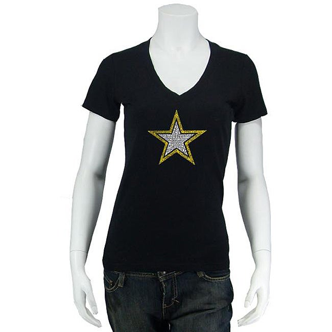 Los Angeles Pop Art Women's Army V-neck Top