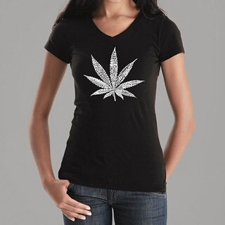 Los Angeles Pop Art Women's Leaf V-neck Shirt (More options available)
