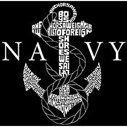 Los Angeles Pop Art Women's Navy V-neck Shirt - Thumbnail 1
