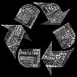 Los Angeles Pop Art Women's Recycle V-neck Shirt - Thumbnail 1