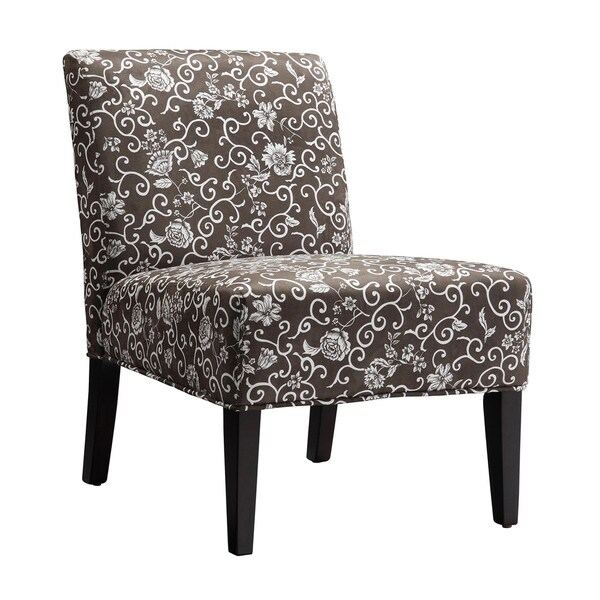 Shop Tribecca Home Decor Floral Print Lounge Chair Free