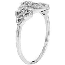 Sterling Silver Diamond Accent Claddagh Ring
