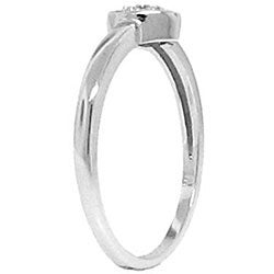 Highly Polished Sterling Silver Diamond Accent Heart Ring