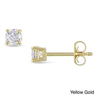 Miadora 14k Gold 1/3ct TDW Certified Diamond Stud Earrings (G-H, VS2)