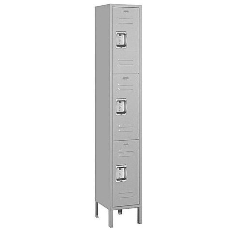 Salsbury Industries 6-Foot Grey Triple-Tier Standard Steel Lockers