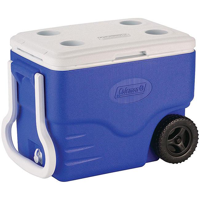 Coleman 40-quart Blue Wheeled Cooler