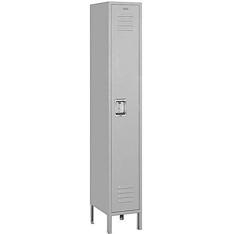 "Salsbury Industries Gray Single-Tier Standard Steel Locker (6' High x 18"" Deep)"