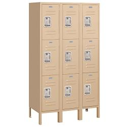 Salsbury Industries School/Work Tan Triple-Tier Standard Lockers - Thumbnail 0