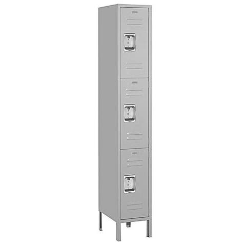 Salsbury Industries Grey 6-foot Triple-tier Standard Lockers