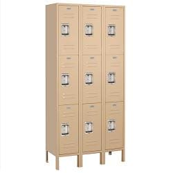 Salsbury Industries 63000 Series Tan Triple Tier Standard Lockers