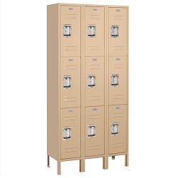Salsbury Industries 63000 Series Tan Triple Tier Standard Lockers