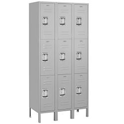 Salsbury Industries School/Work Gray Triple-Tier Standard Lockers