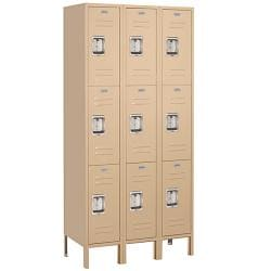 Salsbury Industries Tan Private Triple-Tier Standard Lockers