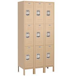 Salsbury Industries Tan Private Triple-Tier Standard Lockers