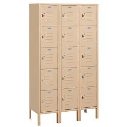 Salsbury Industries Tan Five-Tier Box-Style Lockers with Lock and Key