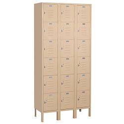 "Salsbury Industries Tan Box-Style Standard Lockers (36"" x 78"" x 12"")"