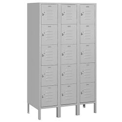Salsbury Industries 5-ft Grey Box-style Standard Lockers