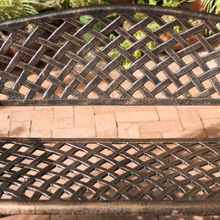 Christopher Knight Home Cozumel Copper Cast Aluminum Bench
