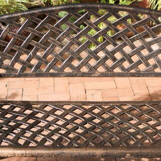 Cozumel Copper Cast Aluminum Bench by Christopher Knight Home|https://ak1.ostkcdn.com/images/products/4865672/P12749631.jpg?impolicy=medium