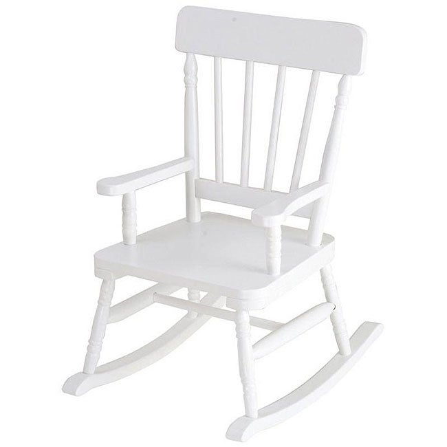 Simply Classic White Rocking Chair