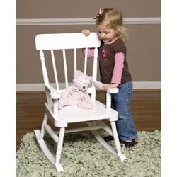 Simply Classic White Rocking Chair - Thumbnail 1