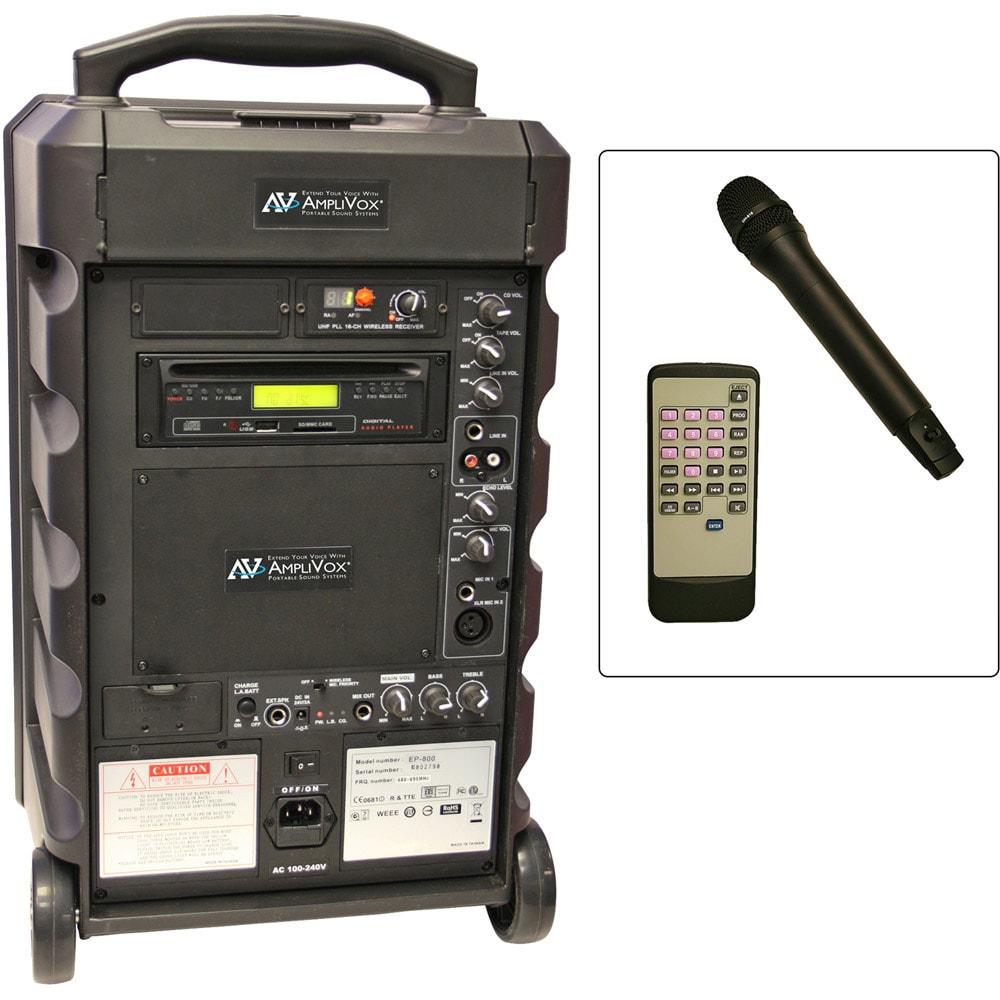 Echo Titan 100-Watt Wireless Portable PA System, Clear #S...