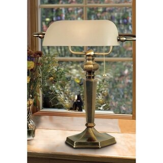 Doherty Banker-style Golden Bronze Desk Lamp