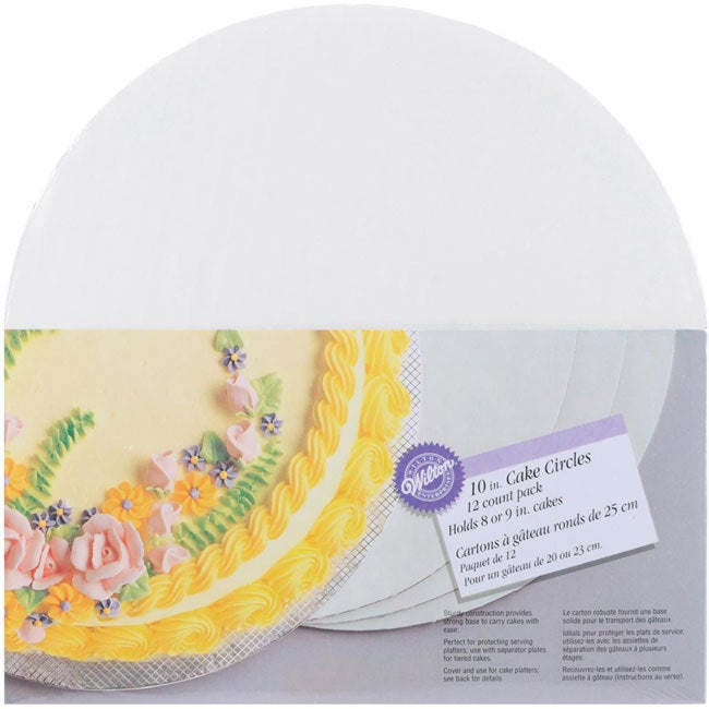 Wilton Cake Circles 10 Circle (Pack of 12)