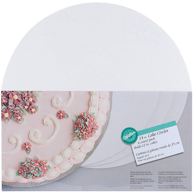 Wilton 14-inch Circle Cake Boards (Pack of 6), White