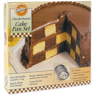 Wilton 9-inch Checkerboard Cake Pan Kit
