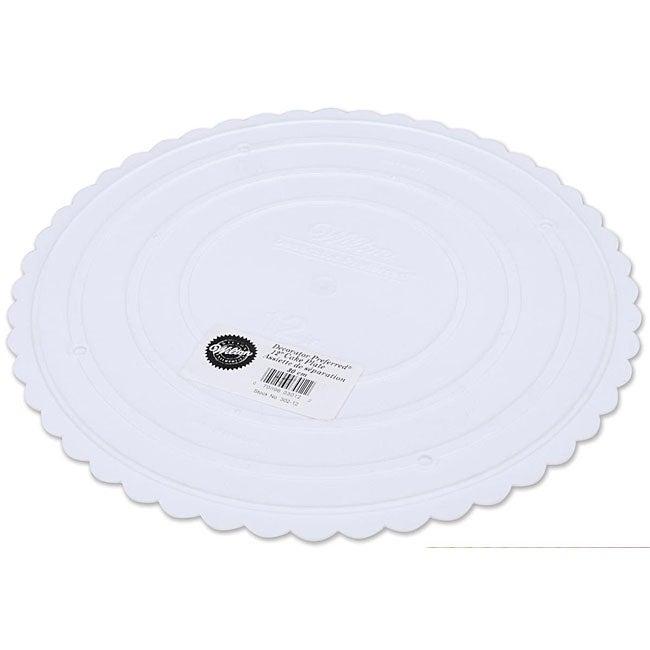Decorator Preferred Scalloped 12-inch Round Cake Plate