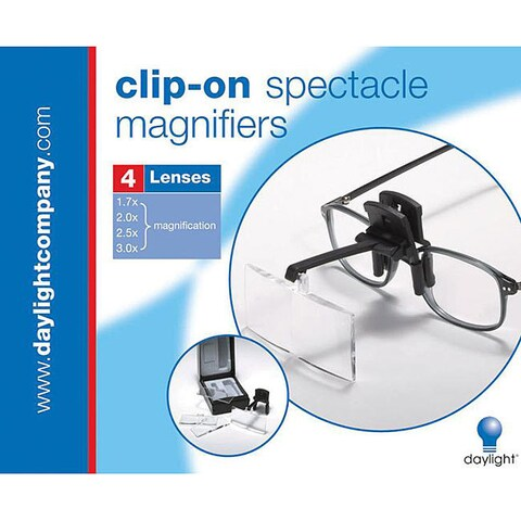 Daylight Clip-On Black Spectacle Magnifier