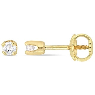 Miadora 14k Gold 1/10ct TDW Diamond Stud Earrings