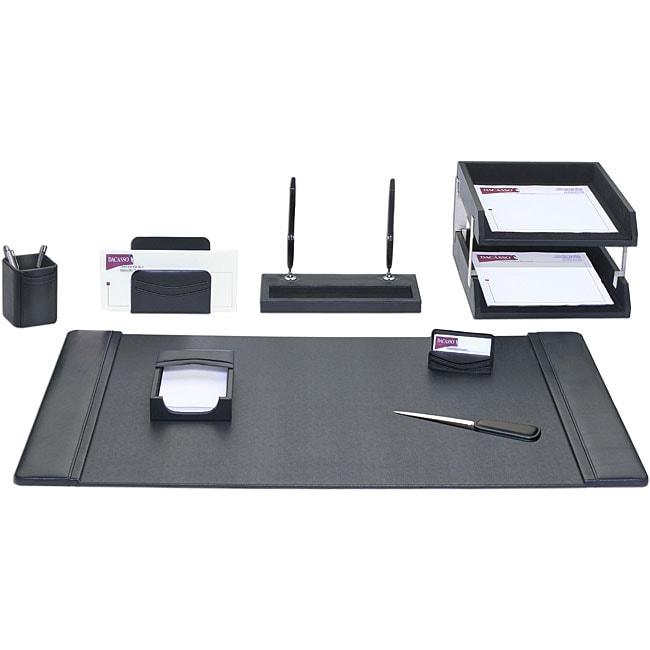 Dacasso Leather 10-piece Desk Set