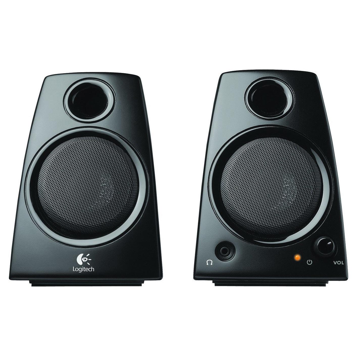 Logitech Z130 2.0 Speaker System - 5 W RMS - Desktop - Bl...