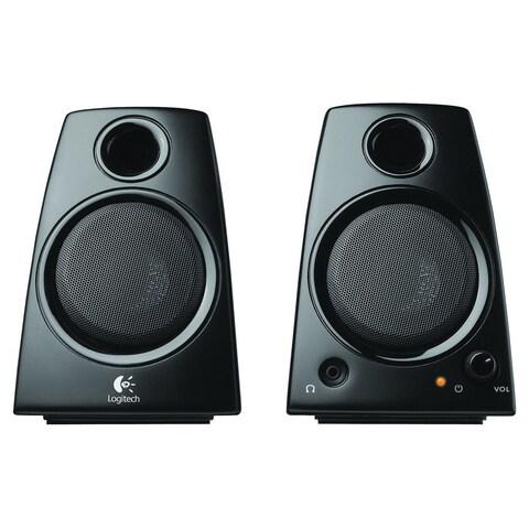 Logitech Z130 2.0 Speaker System - 5 W RMS - Desktop - Black