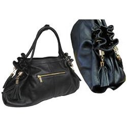 Amerileather Musette Leather Handbag - Thumbnail 1