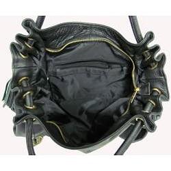 Amerileather Musette Leather Handbag - Thumbnail 2