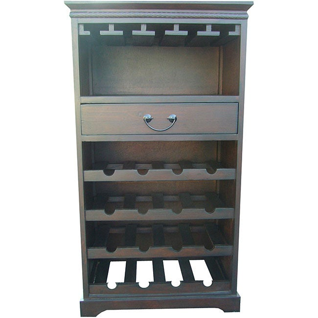 Birch Wood 1-drawer Wine Cabinet (China)