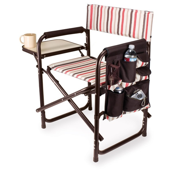 picnic time folding sports chair with side table - free shipping