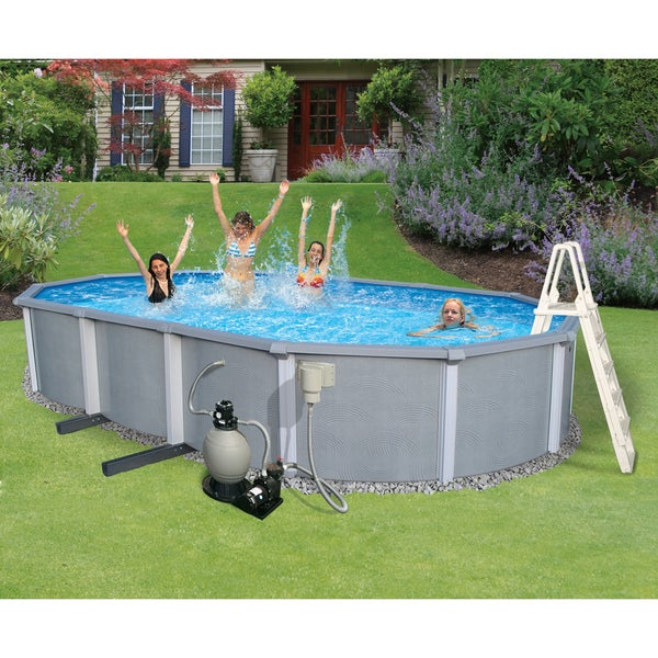 Zanzibar 18x33 Foot Oval 54 Inch Above Ground Pool And Kit
