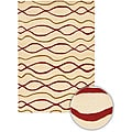 Artist's Loom Hand-tufted Contemporary Geometric Wool Rug - 7'9 Round